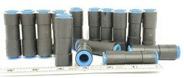 LOT OF 15 NEW SMC 10 STRAIGHT UNION FITTINGS, 10MM-10MM image 2