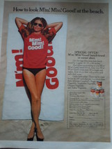 Vintage Campbell's M'm M'm Good Beach Towel Offer Print Magazine Ad 1971 - $8.99