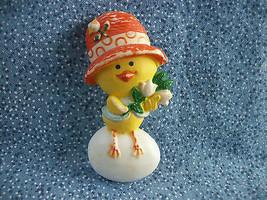 "Vintage Hallmark 1975 ""Chickery Chick"" Baby Chick on Egg Pin Plastic 2 1/4"" - $1.86"