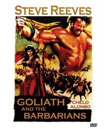 GOLIATH AND THE BARBARIANS  Steve Reeves  Sword & Sandal  ALL REGION DVD - $16.90