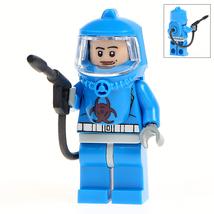 Defensive Team Blue Biohazard Minifigures Toy Custom Minifig Superheroes... - $3.49
