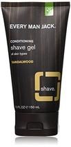 Every Man Jack Shave Gel, Sandalwood, 5.0-ounce image 1