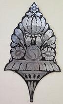 Antique Incision A Engraving On Iron Frieze Decorative Painting Floral C... - $99.96