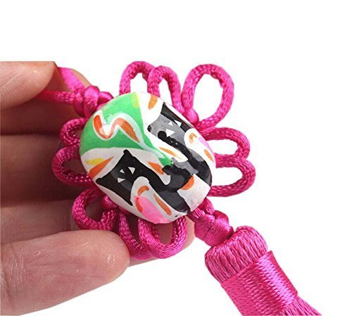 Creative Car Ornaments Chinese Knot Pendant, Rose Red(Random Color)