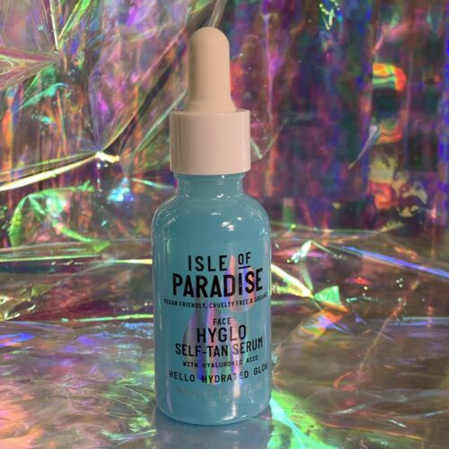 NEW FULL SIZE 1oz Isle Of Paradise Hyglo Hyaluronic Self Tanning Face Serum