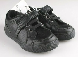 Cat & Jack Toddler Boys' Huxley Black Faux Leather Sneaker Shoes 6 US NWT image 1