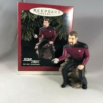 Hallmark Star Trek Christmas Ornament - Commander William T Riker - with... - $19.00