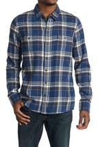 $179 - Paige Hunter Harbor Blue Multi Plaid Shirt Size XXL - $177.21