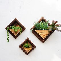 Hanging Frame Wooden Flower Pot Square Wood Storage Garden Basket Wall D... - $26.79 CAD+