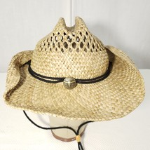 Dorfman Pacific Co Western Straw Hat DPC Small Medium Steer Horns - $22.24
