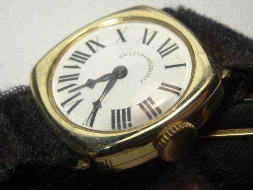 Primary image for Antique 1920s Longines 14K Gold Ladys Roman Watch for Bailey,Banks & Biddle Runs