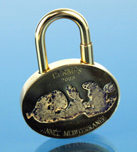 Auth HERMES ANNEE MEDITERRANEE 2003 Gold Tone Cadena Pendant Bag Charm L... - $177.21