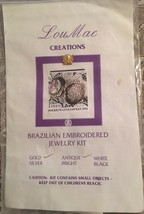 Brazilian Embroidery Jewelry Kit by Lou Mae Creations, Pocket Watch Lock... - $23.71