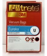 Eureka Vacuum Cleaner Bag 67701A Fits 7600 7700 and 9000 3M Filtrete NEW - $3.66