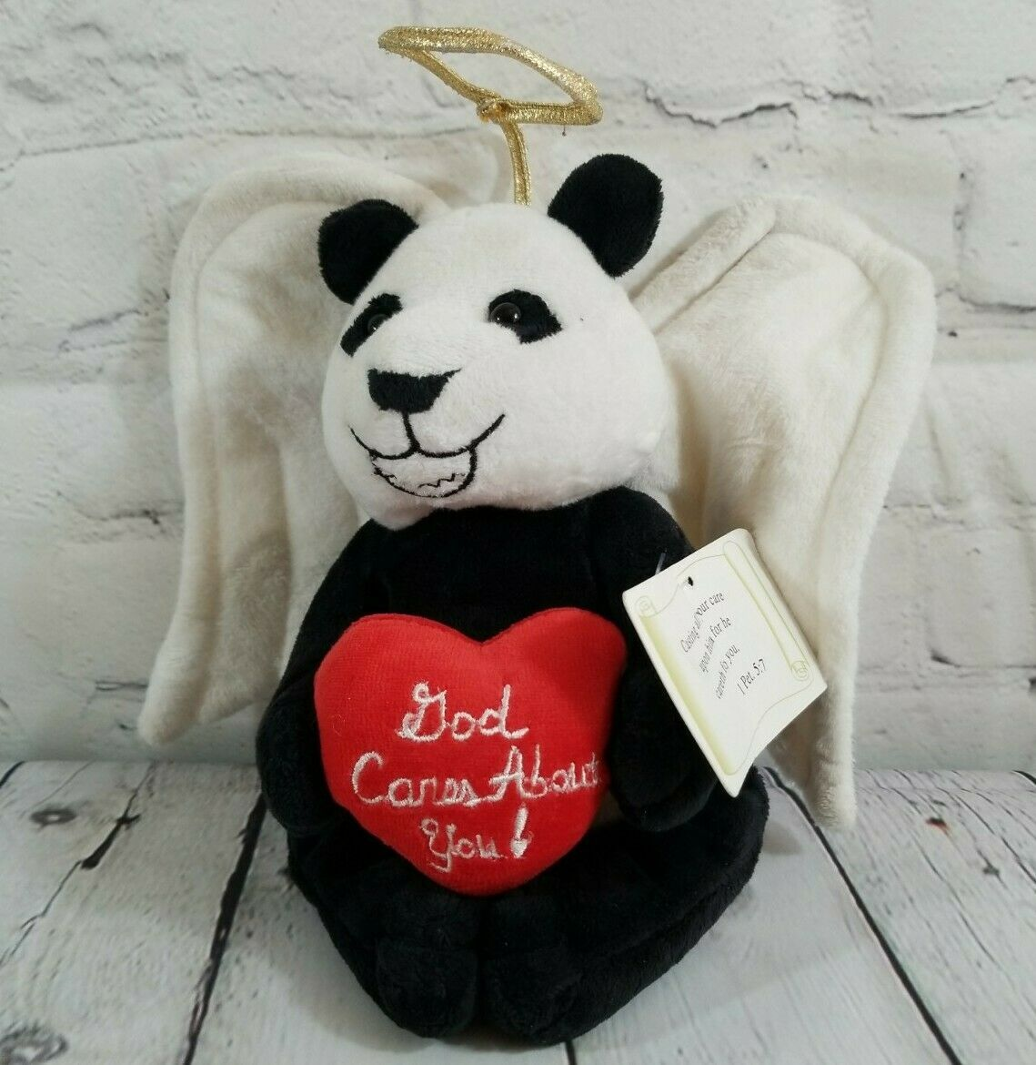 "Primary image for 2005 Abby The Heavenly Guardians ""God Cares About You"" Angel Panda 10"" Plush"
