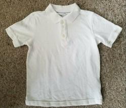 GAP KIDS White Short Sleeved Polo Shirt Boys Size 6-7 - $3.66