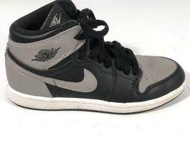 2017 Nike Air Jordan 1 High Shadow Sz 2Y AQ2664-013 Grey Black White Youth Shoe - $123.74