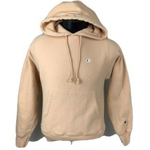 Champion Hoodie Reverse Weave Sweatshirt Logo Warm Up Jumper Peach Men's XS - $44.00