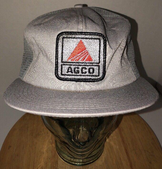 0f017edc7 VTG AGCO 80s Gray Trucker Hat Cap Snapback and 50 similar items