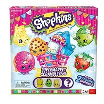 Shopkins Supermarket Scramble Game with 4 Exclusive Collectible Shopkins Charact - $21.83