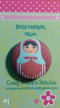 Matryoshka #1 Needleminder fabric cross stitch needle accessory - $7.00