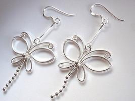 Butterfly Dangling Tail Earrings 925 Sterling Silver Dangle Corona Sun Jewelry - $15.83