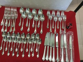 Oneida Belcourt Community Cube Mark Silverplate 55 Pieces Full Set For 8 - $230.00