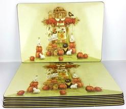 Thanksgiving Placemat Lot 8 Diane Arthurs Bless the Harvest Scarecrow Co... - $27.77