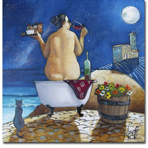 An item in the Art category: Bath No. 1 by Ronald West Gallery Wrapped Canvas Giclee Artwork, (18 in x 18 in)
