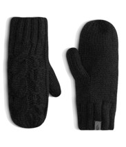 The North Face Womens Fleece Lined Cable Knit Mittens Black Size L/XL -$... - $37.00