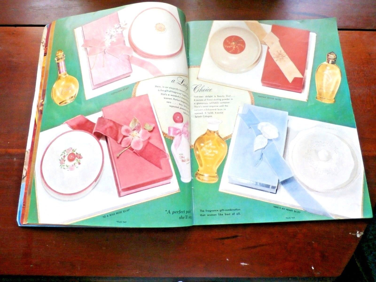 VINTAGE AVON GIFTS CATALOG WITH BEAUTIFUL ILLUSTRATIONS 11 X 8 1/2 INCHES
