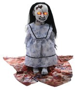 LUNGING GRAVEYARD BABY Animated Halloween Haunted Prop Zombie Doll w/ LE... - $98.97