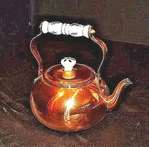 Copper Tea Kettle with Gooseneck Spout  AA18-1208 Vintage image 3