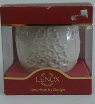 LENOX Christmas Candle Holder MERRY LIGHTS Ivory Gold NIB Tree Votive Te... - $13.98