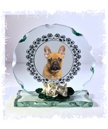 Frenchie   French Bulldog  crystal Cut Glass Plaque custom Made #1 - $30.59