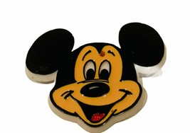 Walt Disney Pinback button pin vtg Mickey Mouse face ears plastic 1970s friends - $14.46