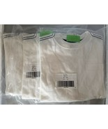 Lot of 3 Crazy 8 Long Sleeve Pocket Tee w/ Topstitch White Size 4 XS 100... - $14.84