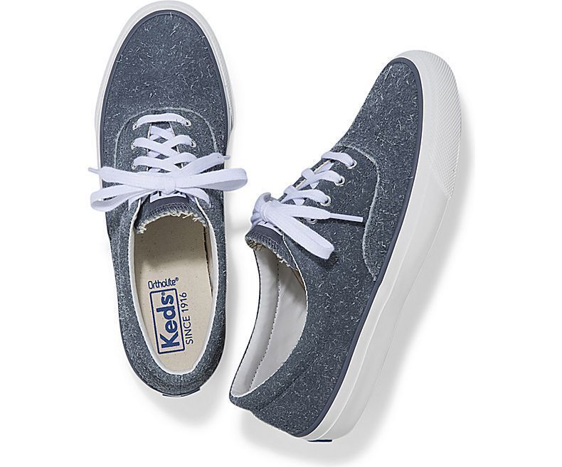 504318c389e57 Keds WH58537 Women's Anchor Hairy Suede Blue and 50 similar items