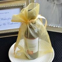 10x Large Gold Copper Organza Favor Pouches Wedding Gift Bags, Potpourri... - $8.75