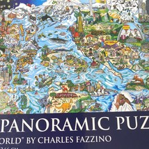 Ab Charles Fazzino Nosotros Son Del Mundo 1000 Piezas Panorámico Puzzle ... - $20.71