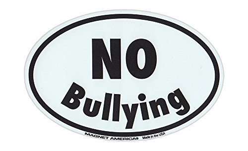 Magnetic Bumper Sticker - Stop Bullying (Anti Bully Campaign) - Oval Shaped Awar