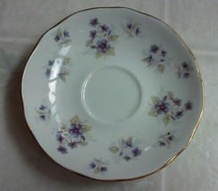 "Duchess Woodside Purple Violets Bone China Saucer ""350""  Made in England... - $16.82"