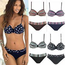 Women Boho Push Up Bra Bikini Set Summer Swimsuit Swimwear image 5