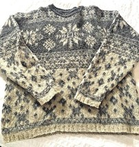 WOOLRICH Women's Sweater GRAY Large/Mens Medium - $18.76