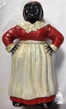 Vintage Reproduction Cast Iron Aunt Jemima Mammy Bank/Doorstop Blk Ameri... - $97.02
