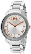 BRAND NEW MOVADO BOLD 3600196 SILVER DIAL STAINLESS STEEL UNISEX WATCH - $257.39