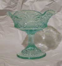 "FENTON ""TOKYO"" BLUE OPALESCENT GLASS JELLY COMPOTE - $24.74"