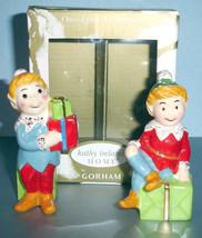 Gorham Elf Figure Salt & Pepper Shakers Kathy Ireland Once Upon a Christ... - $19.99
