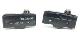 LOT OF 2 HONEYWELL MICROSWITCH BZ-2RD-A2 BASIC LIMIT SWITCHES, 10A, 480VAC