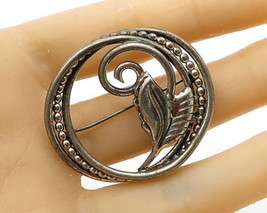 DANECRAFT 925 Sterling Silver - Vintage Leaf Wreath Detail Brooch Pin - ... - $58.74